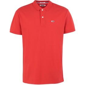 《期間限定セール開催中!》TOMMY JEANS メンズ ポロシャツ レッド S コットン 98% / ポリウレタン 2%
