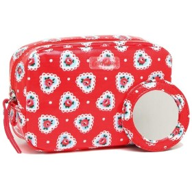 【HOT PRICE】キャスキッドソン ポーチ CATH KIDSTON 831420 CLASSIC BOX MAKEUP CASE LACE HEARTS レディース ポーチ 花柄 BRIGHT RED 赤 2019春夏新作 夏フェス 海 ビーチ