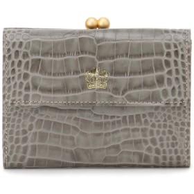 Eletha 【Eletha/エレザ】エレザ グレインレザー 口金二つ折り財布 財布,チャコールグレー