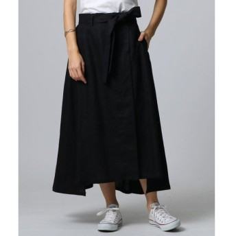 JET / ジェット ◆【洗える】リネンラップデザインスカート