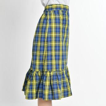 ひざ丈スカート - WEGO【WOMEN】 チェックマーメイドスカート BR18AU08-L053