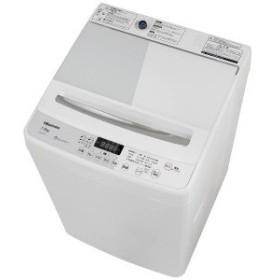 ハイセンス 全自動洗濯機 (洗濯7.5kg) HW-G75A ホワイト/ホワイト(標準設置無料)