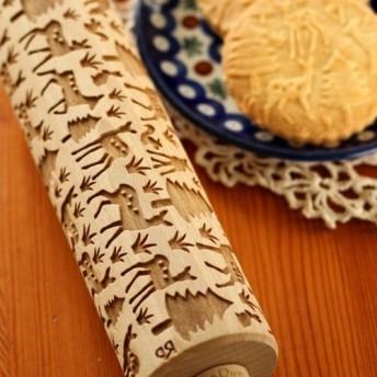 ポーランド ブナの木のめん棒 Rolling Pin 『 こじか 森のさんぽ 』