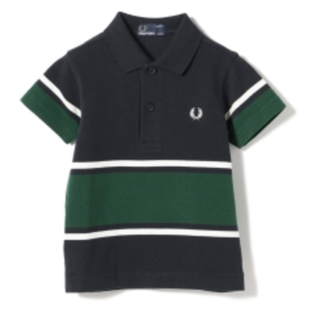 FRED PERRY / Bold Fine Stripe ポロシャツ 9 (2~9才) キッズ ポロシャツ 608NAVY 4-5y