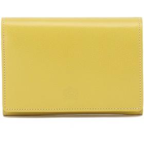 Eletha 【Eletha/エレザ】エレザ ベーシック 二つ折り財布 財布,イエロー