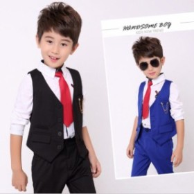 bae0a17fb0fb8 子供服 フォーマル スーツ 2点セット ベスト+パンツ 子供スーツ ピアノ ...