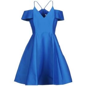 《期間限定セール開催中!》HALSTON HERITAGE レディース ミニワンピース&ドレス ブルー 2 コットン 81% / シルク 19%