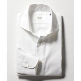 ノーリーズ イージーアイロンワイドカラーシャツ メンズ ホワイト L 【NOLLEY'S】