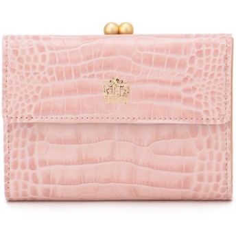 Eletha 【Eletha/エレザ】エレザ グレインレザー 口金二つ折り財布 財布,ピンク