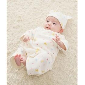 [マルイ] <新生児>スムース素材 どうぶつ柄コンビ肌着/ミキハウス ホットビスケッツ(MIKIHOUSE HOT BISCUITS)