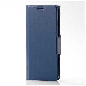 Galaxy S8用 手帳型ケースソフトレザーカバー 薄型 磁石付 ネイビー PM-GS8PLFUMNV