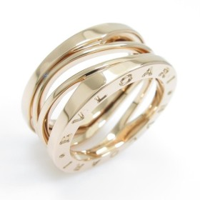 37802c0747 CELINE セリーヌ ロゴモチーフリング リング・指輪K18イエローゴールド ...