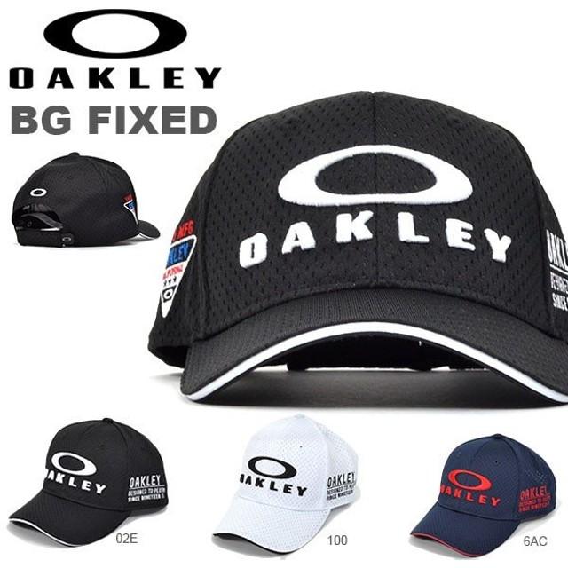 ゴルフ キャップ OAKLEY オークリー メンズ BG FIXED ロゴ  帽子 GOLF ゴルフウェア コンペ 景品 日本正規品 2019春夏新作