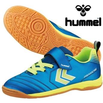ヒュンメル hummel プリアモーレ5 VIN JR HJS5120-6932 ジュニア フットサルシューズ インドア 体育館 ベルクロ マジックテープ ブルー 青 2019春夏