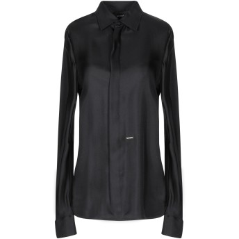 《セール開催中》DSQUARED2 レディース シャツ ブラック 40 シルク 100%