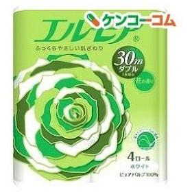 エルモア トイレットロール 花の香り ダブル 2枚重ね30m ( 4ロール )/ エルモア