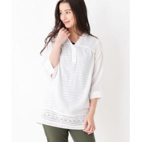 SHOO・LA・RUE(シューラルー) 【2点セット】裾はしごレーススキッパーシャツ+タンクトップ