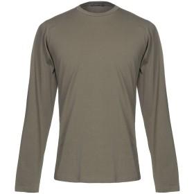 《セール開催中》MANIFATTURA DI GENOVA メンズ T シャツ ミリタリーグリーン L コットン 90% / ポリウレタン 10%