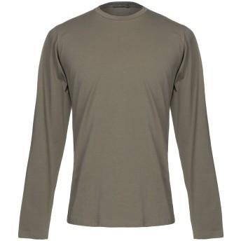 《セール開催中》MANIFATTURA DI GENOVA メンズ T シャツ ミリタリーグリーン XL コットン 90% / ポリウレタン 10%
