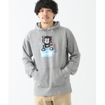 【SPECIAL PRICE】BEAMS T / DJ Bear Hoodie メンズ パーカー GRAY S