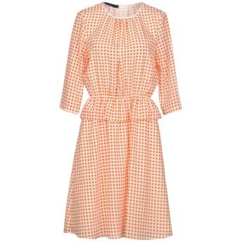 《セール開催中》BLUE LES COPAINS レディース ミニワンピース&ドレス オレンジ 40 ポリエステル 100% / アセテート / シルク