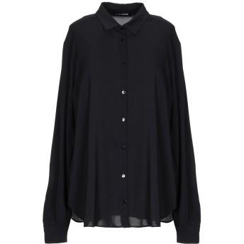 《セール開催中》EUROPEAN CULTURE レディース シャツ ブラック XS レーヨン 97% / ポリウレタン 3%