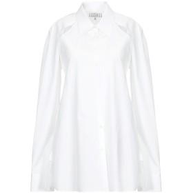 《期間限定セール開催中!》MAISON MARGIELA レディース シャツ ホワイト 40 コットン 100%