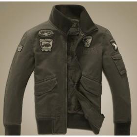 大きいサイズ ミリタリージャケット メンズ フライトジャケット アルファワッペン フィルドジャッケト 軍物 米軍 欧米風 お兄系 刺繍 コート 裏ボア 裏起毛