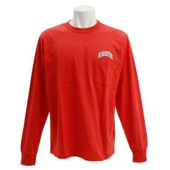 クリフメイヤー(KRIFF MAYER) 刺繍ロゴ 長袖Tシャツ 1847202-2-RED (Men's)