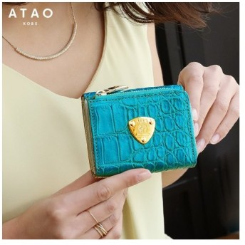 【ATAO】リアルクロコダイルの上品で小さな三つ折り財布 waltz croco(ワルツ クロコ)【最短当日、最長翌営業日出荷】