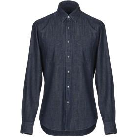 《期間限定セール開催中!》BOGLIOLI メンズ デニムシャツ ブルー S コットン 100%