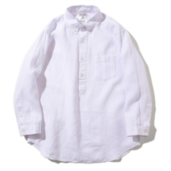 B:MING by BEAMS ビーミング by ビームス ベルギーリネン プルオーバー 7分袖 シャツ