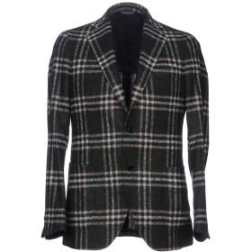 《期間限定セール開催中!》TOMBOLINI メンズ テーラードジャケット ダークグリーン 52 毛(アルパカ) 80% / ナイロン 20%