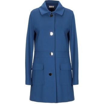 《セール開催中》SCEE by TWINSET レディース コート ブルー M レーヨン 65% / ナイロン 30% / ポリウレタン 5%