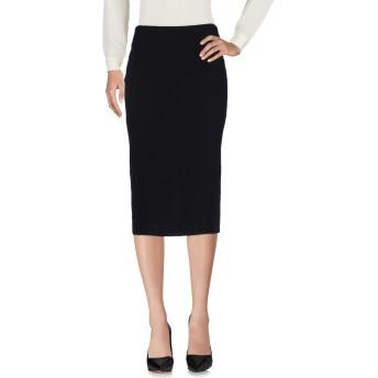 《9/20まで! 限定セール開催中》CEDRIC CHARLIER レディース 7分丈スカート ブラック 44 レーヨン 64% / アセテート 33% / 指定外繊維 3%