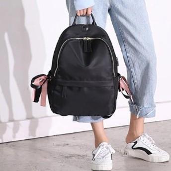 リュック レディース 大人 軽量 鞄 バッグ かわいい カジュアル ファッション 黒 ブラック リボン おしゃれ オシャレ