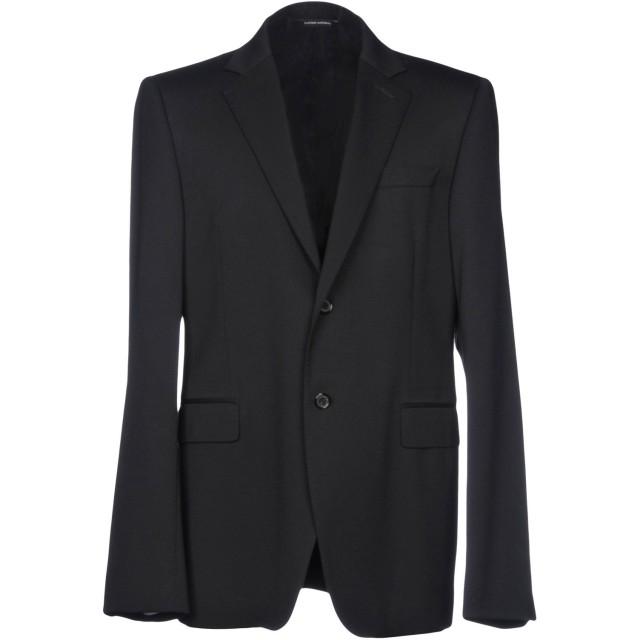 《期間限定セール開催中!》COSTUME NATIONAL HOMME メンズ テーラードジャケット ブラック 54 ウール 98% / ポリウレタン 2%