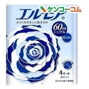 エルモア トイレットロール 花の香り ホワイトシングル 60m ( 4ロール )/ エルモア