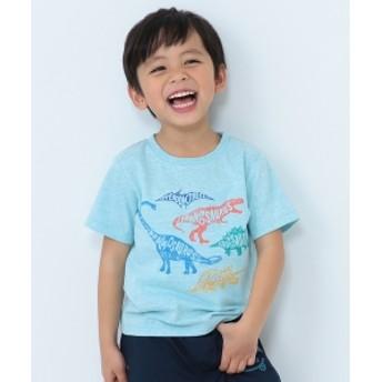 BEAMS mini / Dinosaur Tシャツ (90~150㎝) キッズ Tシャツ SAX 90
