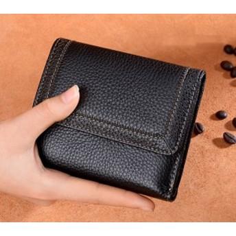 レディース 牛革 三つ折りミニ財布 小さい 短財布 折りたたみ財布 手のひら サイズ大容量 軽量 女性用 人気 かわいい