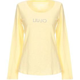 《送料無料》LIU JO レディース T シャツ ライトイエロー XS 100% コットン
