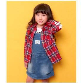 【50%OFF】 アナップキッズ チェックシャツ レディース RD 100 【ANAP KIDS】 【セール開催中】