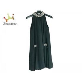 22540df6a4869 グレースコンチネンタル ドレス サイズ36 S レディース 美品 黒×ゴールド ビーズ スパンコール スペシャル