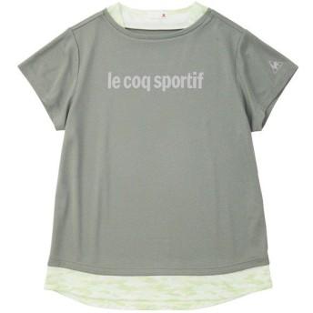 (セール)le coq sportif(ルコックスポルティフ) レディーススポーツウェア Tシャツ 半袖シャツ QMWNJA05 MGR レディース MGR