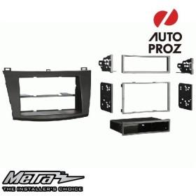 METRA 正規品 マツダ Mazda3 2010-2013年 シングルDIN/ダブルDIN オーディオ取り付けキット/ダッシュキット マットブラック