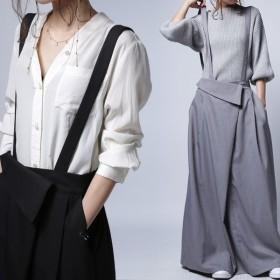 サロペット ワンピース サロペワンピ ボトムス スカート 2wayサロペスカート・再販。##メール便不可
