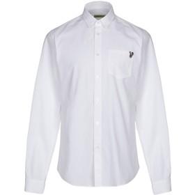 《期間限定セール開催中!》VERSACE JEANS メンズ シャツ ホワイト 46 コットン 100%