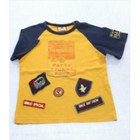 11cab0a4b3f2b パーティチケット PARTY TICKET Tシャツ 半袖 120cm からし 紺系 トップス ワンコイン キッズ