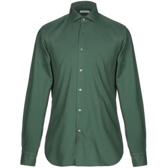 《期間限定セール開催中!》BOGLIOLI メンズ シャツ グリーン 39 コットン 100%