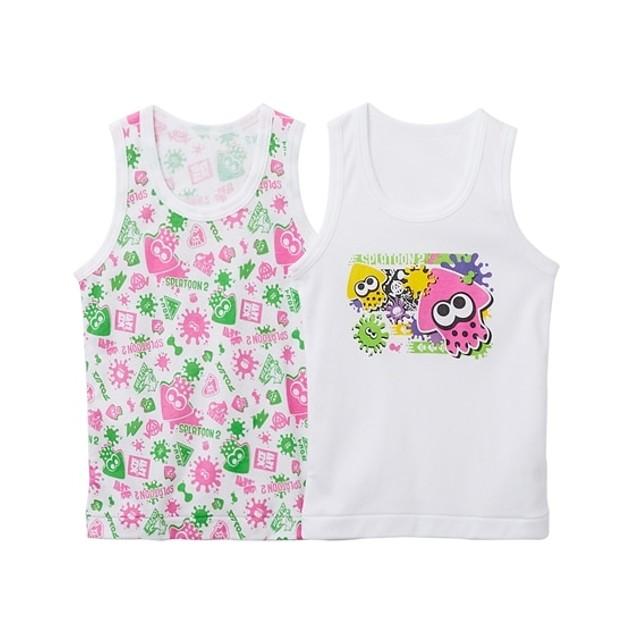スプラトゥーン2 フライスランニングシャツ2枚組(男の子 子供服。ジュニア服) キッズ下着